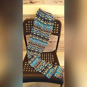 SweetlegsOne Size Blue Patterned Leggings